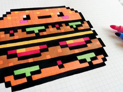 Handmade Pixel Art - How To Draw Kawaii Big Mac #pixelart