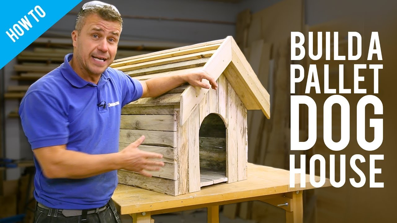 How to build a dog house with recycled pallets my crafts and diy projects - How to build a dog house with pallets ...