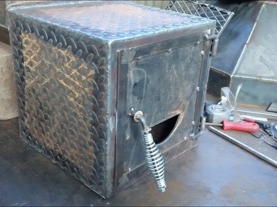 How to build spring latch for bbq pit