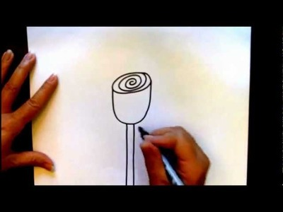 How to Draw a Rose Bud Simple Beginner Rosebud Drawing Tutorial