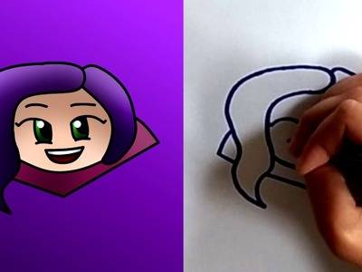 How to Draw Emoji Mal from Descendants - Easy Cute Step by Step Drawing