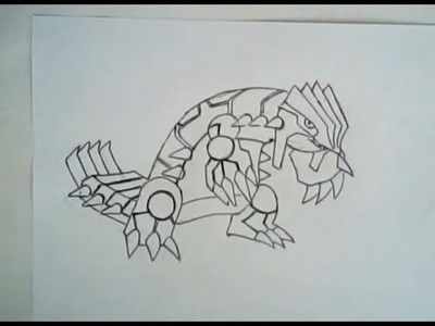 How to draw groudon from gen3 pokemon (tough character to draw)
