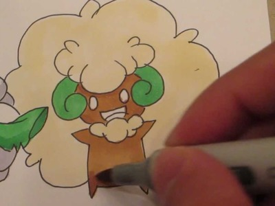 How to draw Pokemon: No.546 Cottonee, No.547 Whimsicott
