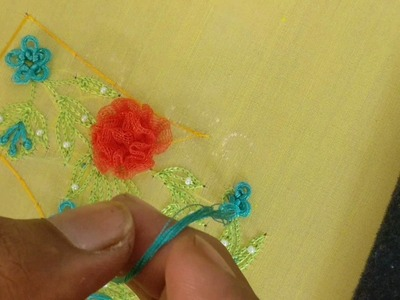 How to make a bullion knot flower Embroidery