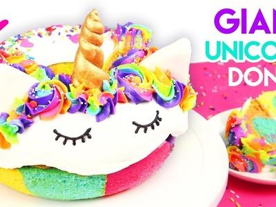 How to Make a GIANT Rainbow Unicorn Donut Cake! ????