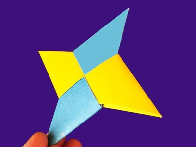 How To Make a Paper Ninja Star (Shuriken). DIY Origami