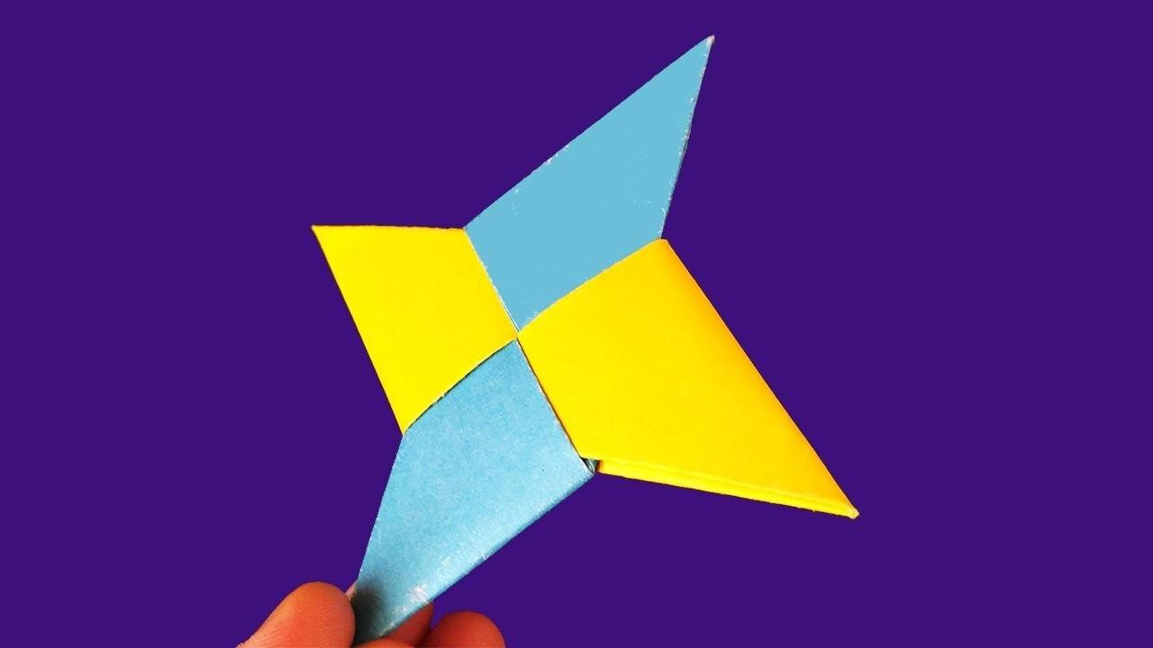 How To Make a Paper Ninja Star (Shuriken). DIY Origami