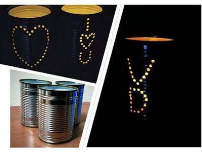 How To Make Beautiful Tin Can Lantern | DIY Tin Can Lantern | DIY Tin Can Crafts | Tin Can Decord