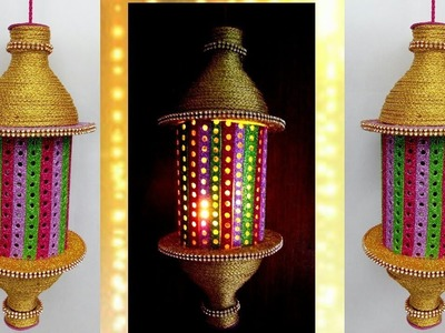 How to make Lantern from Plastic can | Diwali.Christmas Home decor