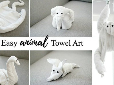 HOW TO MAKE TOWEL ANIMALS.TOWEL ART TUTORIAL - FOR BEGINNERS!