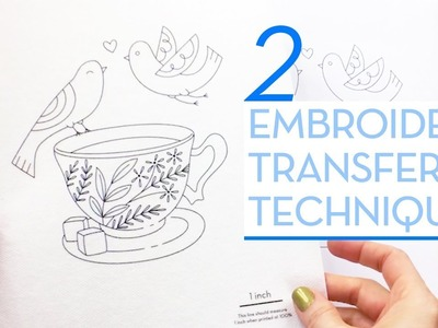 My 2 most used ways to transfer an embroidery design to fabric - Embroidery Supplies Bundle