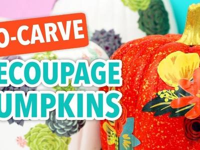 No-Carve Decoupage Pumpkins - HGTV Handmade