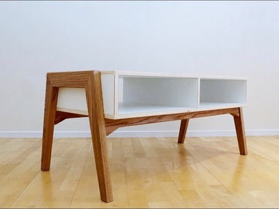 Oak and Plywood Coffee Table