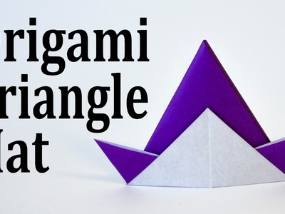f433675e8a5 Origami Triangle Hat Tutorial (Traditional)