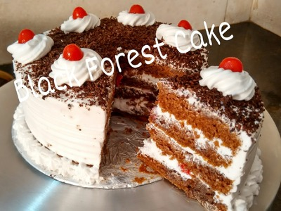 Perfect Homemade Eggless Black forest Cake Recipe.Cake For Beginners Tutorial by Somyaskitchen #234