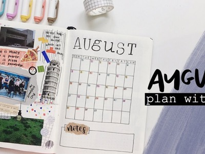 Plan with me | august 2017 bullet journal setup