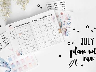 PLAN WITH ME | July 2017 Bullet Journal Setup | Ocean Sea Theme