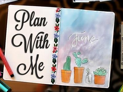 Plan With Me!   June 2017 Bullet Journal Setup Ideas :)