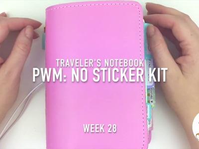Plan With Me: No Sticker Kit Traveler's Notebook Week 28