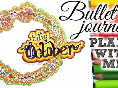 PLAN WITH ME. October 2017 Bullet Journal Setup. SoCraftastic