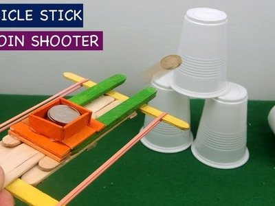 Popsicle Stick Guns | Coin Shooter - DIY Toys for kids
