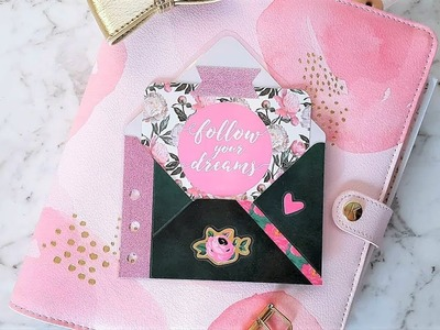 Pretty Your Planner! | Making a Laminated Envelope Planner Pocket