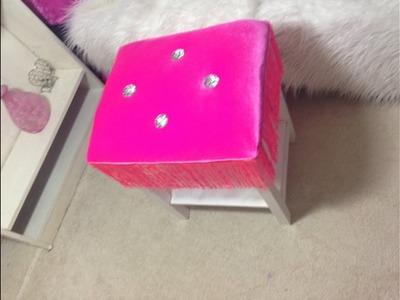 Princess glam  dressing stool in an easy & fast way.IKEA OLD STOOL UP CYCLING IDEAS