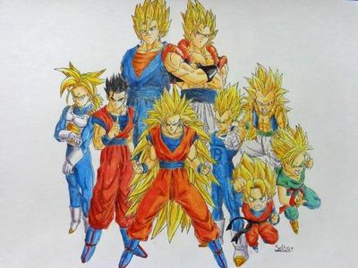Speed Drawing: Dragon Ball Z    Selbor