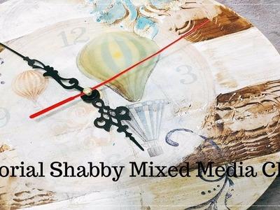 Studio Deocupage Tutorial (Basic) Shabby Mixed Media Clock