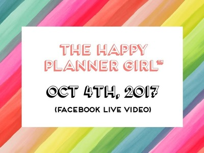 The Happy Planner Girl™ Product Details. Facebook LIVE