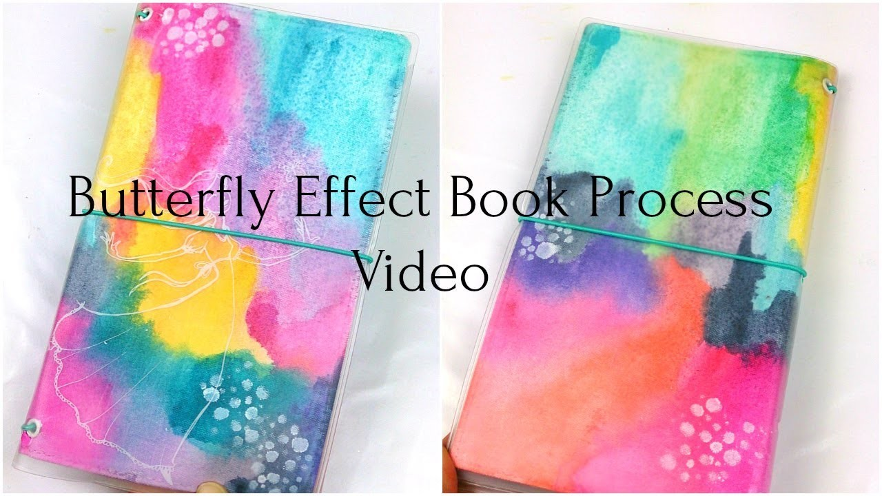 Travelers notebook book cover process video