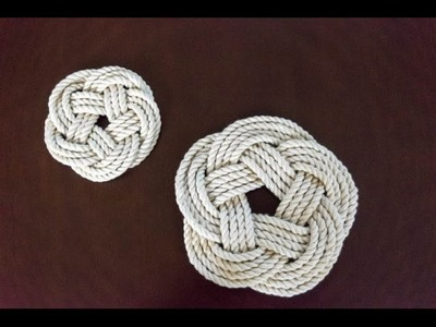 Turk's Head Knot Trivet and Coaster. the Quick.Musical Version