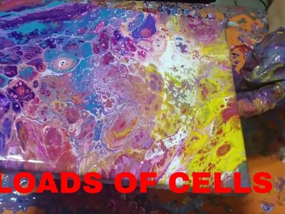 USING A BLENDER TO MAKE LARGER BATCHES OF FLUID PAINT AND A FLIP CUP WITH LOADS OF CELLS (94)