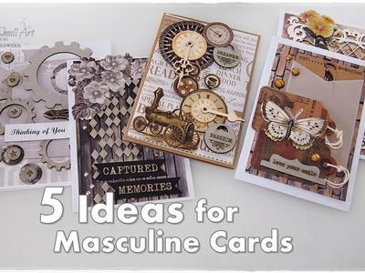 5 Masculine Cards Ideas Tutorial ♡ Maremi's Small Art ♡