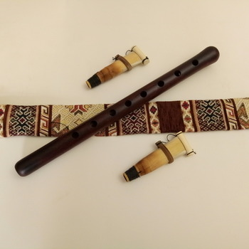 Armenian DUDUK PRO Musical Instrument from Apricot Wood, 2 Reeds, National Case, Playing Instruction
