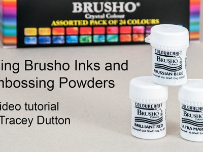 Brusho Inks and Embossing Powders. A Lavinia Stamps Tutorial
