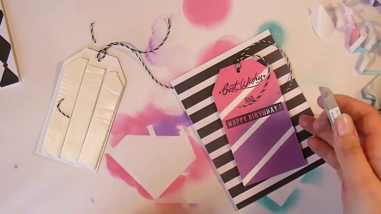Card making|| Tag on a card