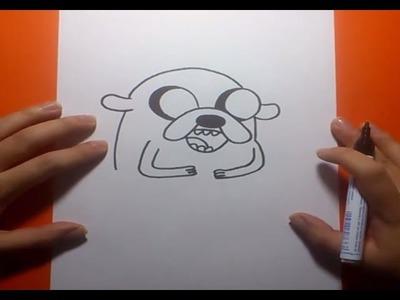 Como dibujar a Jake paso a paso 4 - Hora de aventuras   How to draw Jake 4 - Adventure time