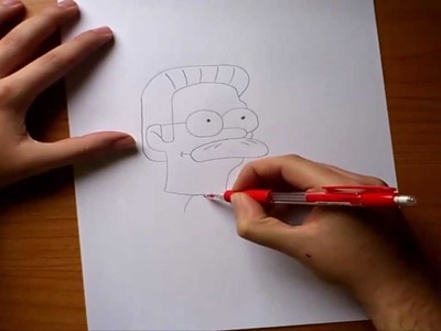 Como dibujar a Ned Flanders paso a paso - Los simpsons  | How to draw Ned Flanders - The simpsons