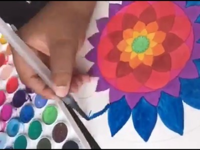 Como hacer Mandala Con acuarelas! | Watercolor Mandala DIY Speed Draw