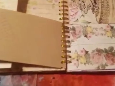 Daiso spiral book altered to a vintage junk journal