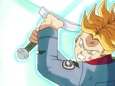 Draw to Trunks Genkidama's Sword - Dibuja a Trunks con la espada Genkidama- Dragon Ball Super cap 66