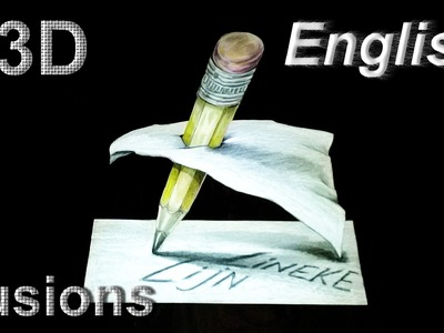 Drawing a 3D PENCIL Trick art on paper easy tutorial