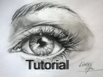 Drawing a Realistic EYE Graphite pencils for beginners