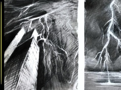 Drawing LIGHTNING - Art Tips and tricks graphite and pencil eraser