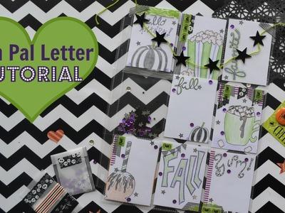 Fall Pen Pal Pocket Letter Tutorial
