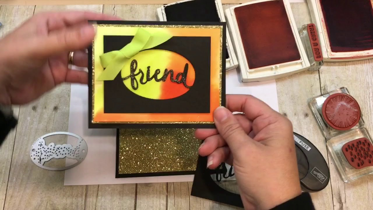 How to create a fun Lovely Inside and Out Card with watercolor