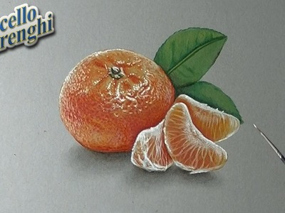 How to draw a 3D mandarin orange
