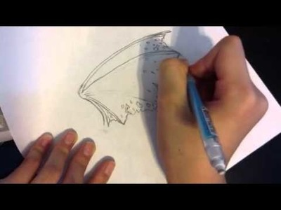 How to draw a dragon wing