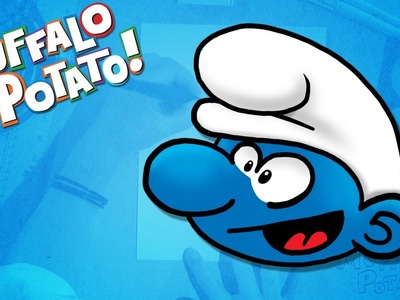How to Draw A SMURF Using Letters and Numbers with Muffalo Potato